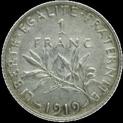 1 franc semeuse argent