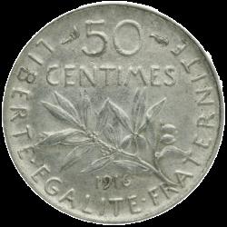 50 centimes Argent Semeuse