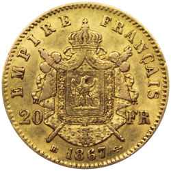 20 francs Napoléon or revers
