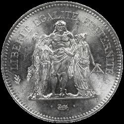50 francs argent Hercules avers