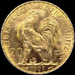 20 francs marianne coq revers