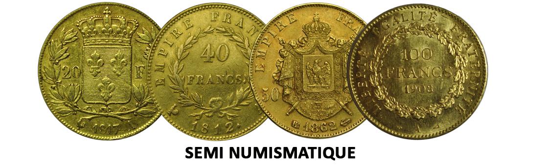 Pièces semi numismatiques