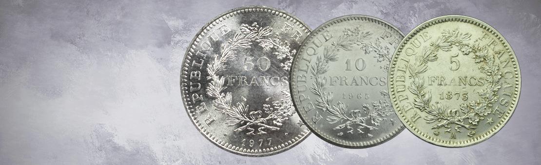 Pièces française argent